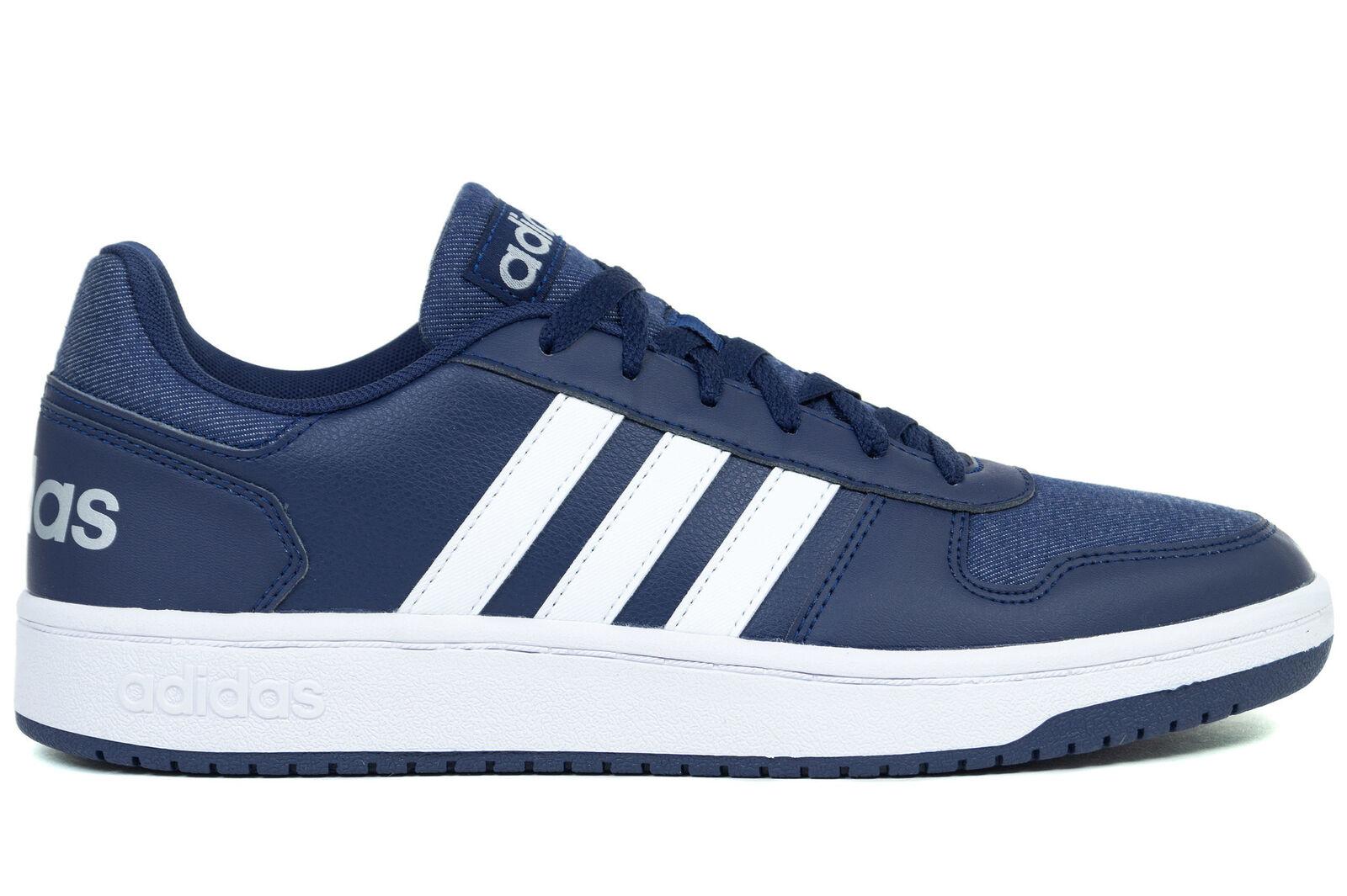 Adidas Hoops 2.0 Men's Walking shoes Sneakers Navy NEW F34856