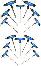 T-Handle Hex Key Set 14 Piece Flat End SAE Standard Metric Thru Handle Tools
