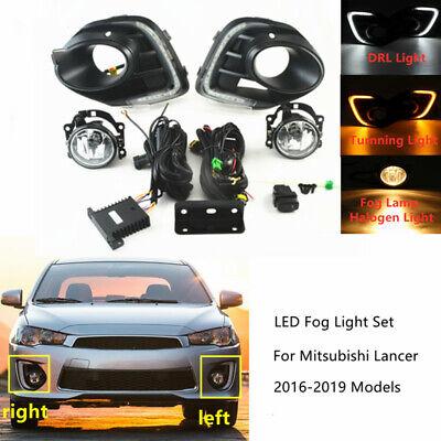 Fog Lamp LED DRL Daytime Running Lights Switch Kit For Mitsubishi Lancer 2016-18