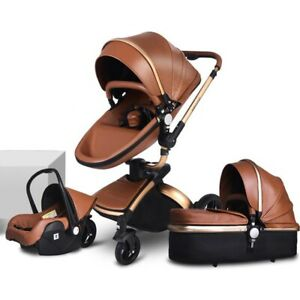 3 in 1 Baby Stroller with Car Seat For Newborn High View Folding Baby Carriag