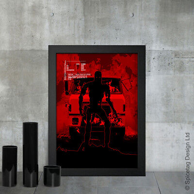 Steve A3 A4 Poster Print 80s Retro Starcourt Mall Inspired 80/'s Neon Wall Art
