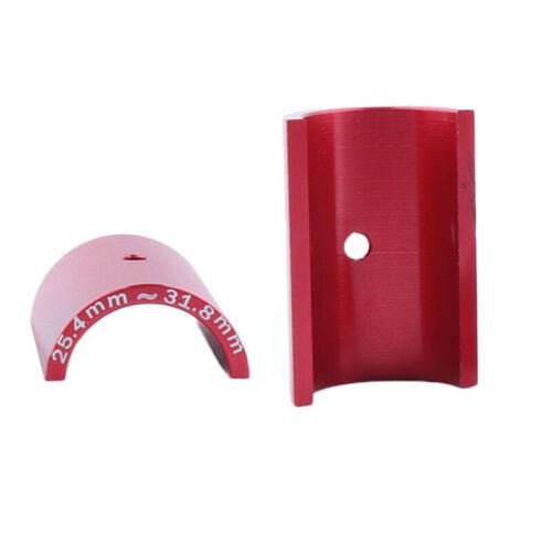 1Pair Bicycle Bike Handlebar Bar Shim Spacer Stem Reducer 25.4mm To 31.8mm Red S