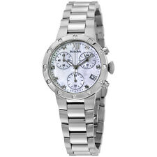 Bulova MOP Dial Diamond Stainless Steel Ladies Watch 96W202