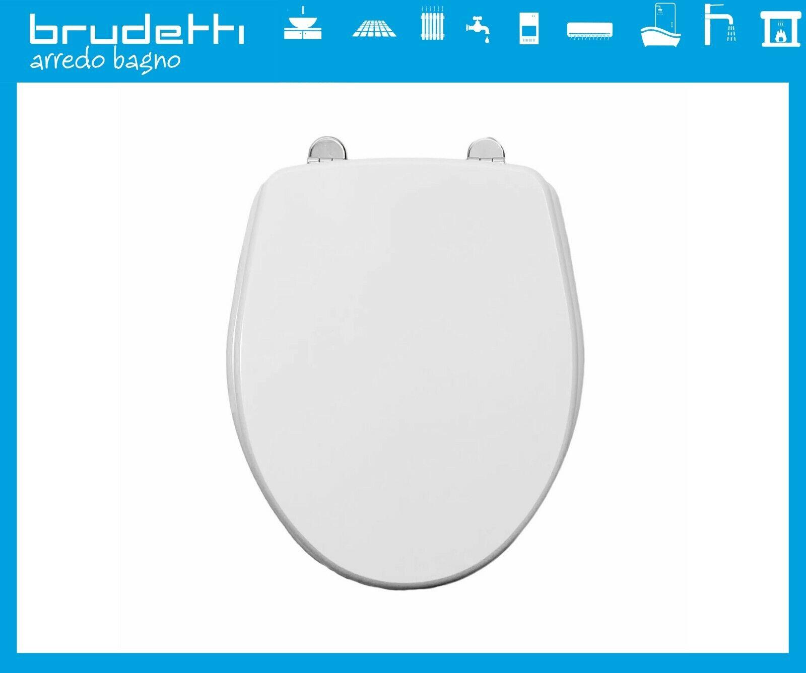 WC seat Compatible sanindusa Cetus Toilet Seat Wood MDF hinges