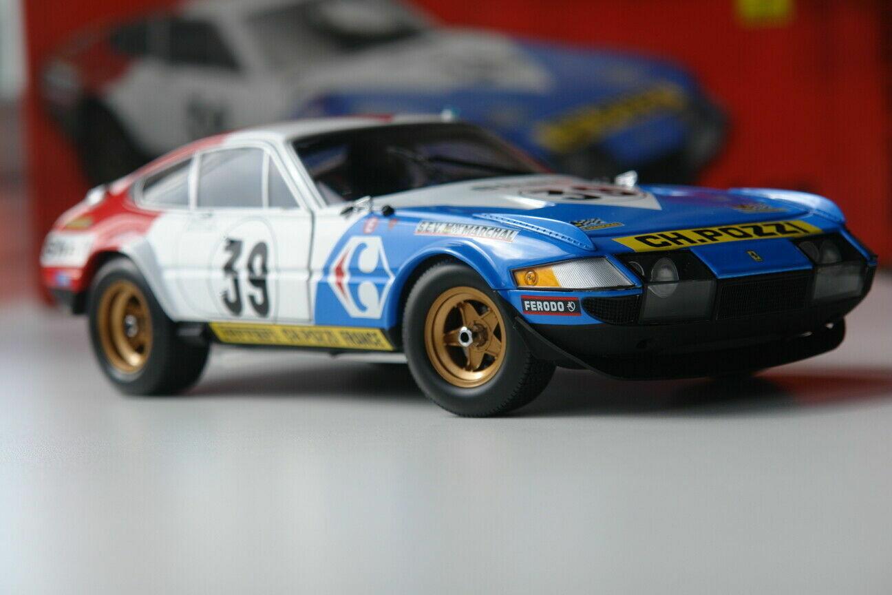 1 18 Ferrari 365GTB4 Carrefour Pozzi  39 5e 24H Mans 1972 Kyosho Neuf
