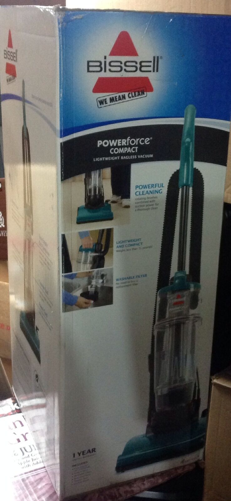 Bissell PowerForce Compact Lightweight Bagless Upright Vacuum,Green