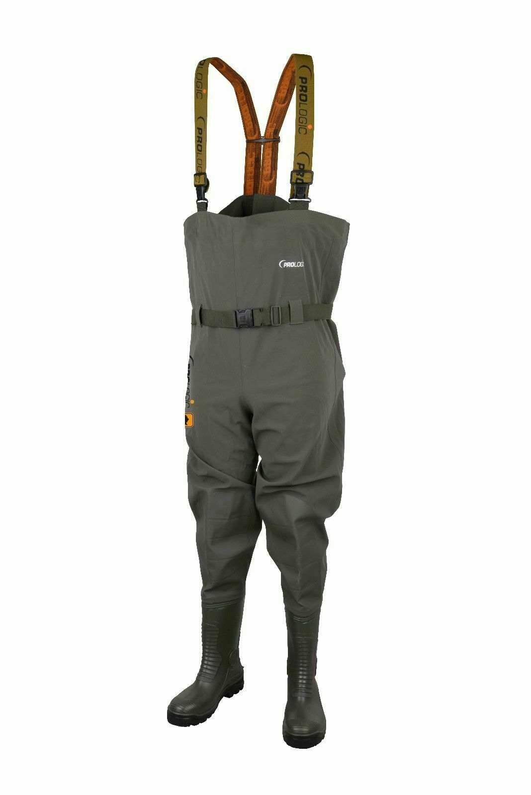 New  Prologic Road Sign Chest Waders Cleated Sole Größe 7½ - 43 ( )