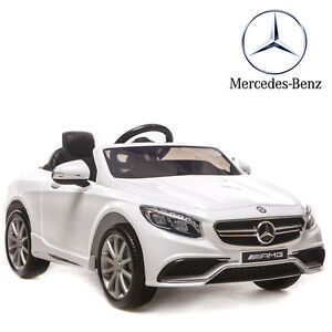 petite voiture lectrique enfant mercedes luxe s63 blanche. Black Bedroom Furniture Sets. Home Design Ideas