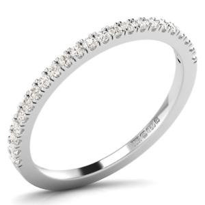 0.20Carat Round Brilliant Cut Diamond Claw Set Half Eternity Ring in 950Platinum