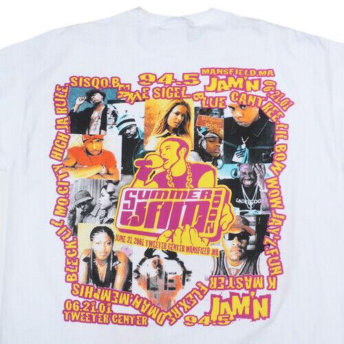 Vintage Jamn 94.5 Summer Jam 2001 Tour T-shirt Jay