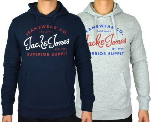 BNWT Jack /& Jones Men/'s /'JJE Logo/' L//Sleeve Hooded Sweatshirt