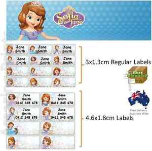 Sofia The First Vinyl Personalised Name Label Sticker School Book