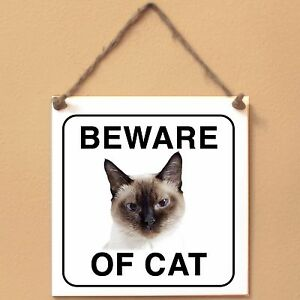 Thai-cat-Beware-of-cat-Targa-gatto-cartello-ceramic-tiles