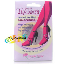 1 Pair Carnation Tip Toes Invisible Gel Ball of Foot Cushions High Heel Insoles