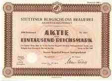 Stettiner Bergschloss Brauerei AG 1942  Stettin / Szczecin