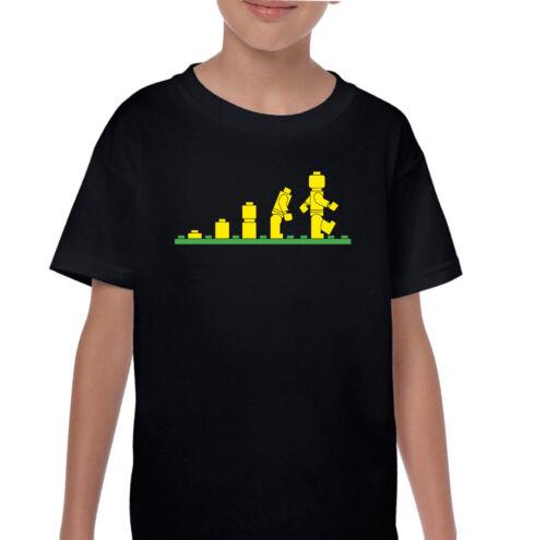 Lego Evolution Kids Funny Lego T-Shirt Ideal Birthday Present Boys Girls