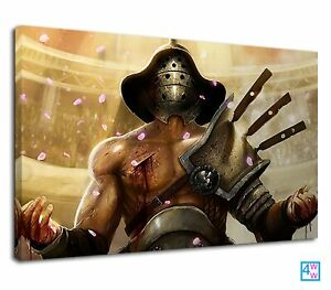 A Closer Look At Gladiator After Winning Battle Canvas Print Wall Art Picture