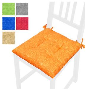 Detalles de Cojín Funda para Silla Cojines Color Liso Cocina Del Cordón  Algodón Casa
