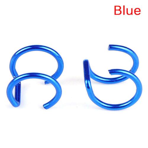 2X Men Women Fake Nose Lips U Ring Ear Clip Hoop Earrings Unisex No Piercing Gut