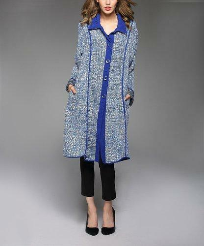 Jerry T Woherren Blau Cardigan Jacket 2X 22 24 Plus Größe Coat New NWT