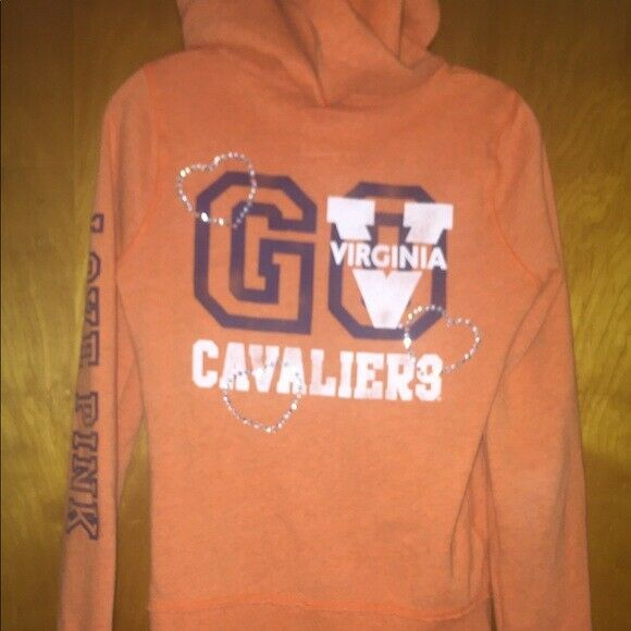 Victoria Secret University of Virginia Hoody Set S orange bluee Uva cavaliers