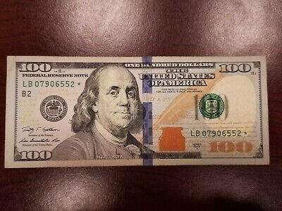 New Style $100 One Hundred Dollar Bill FRN 2009-A STAR NOTE Replacement Crisp