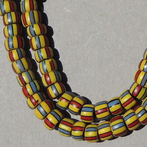 18-inch-46cm-strand-old-antique-venetian-2-layer-fancy-beads-african-trade-1783