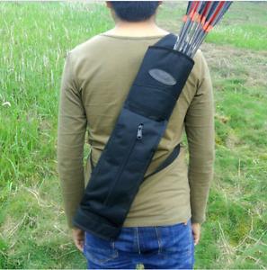Back-Quiver-Black-Oxford-600Dpvc-Waterproof-Fit-Bow-Archery-Hunt-Sport