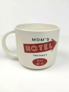 "Threshold Stoneware Coffee Cup Mug ""Moms Hotel Vacancy Free Wi*fi"" Mug Cup Cool!"