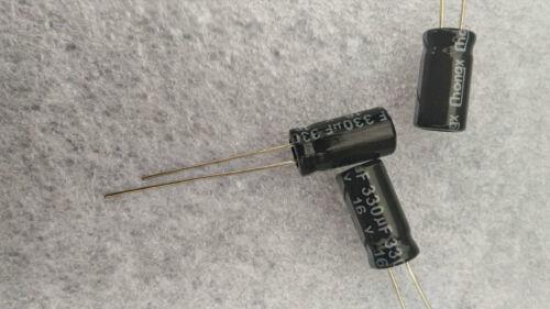 électrochimique 330uF tension 16V 6x11mm radiale condensateur électrolytique