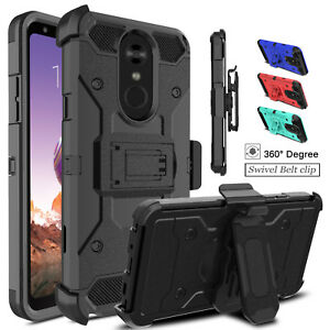 For-LG-Stylo-4-4-4-Plus-Armor-With-Stand-Kickstand-Holster-Belt-Clip-Case-Cover
