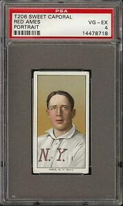 1909-11-T206-Red-Ames-Portrait-Sweet-Caporal-150-New-York-PSA-4-VG-EX