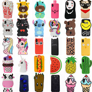3D-Cartoon-Animals-Soft-Silicone-Kids-Case-Cover-Skin-For-iPhone-XS-X-7-8-6-5S-4