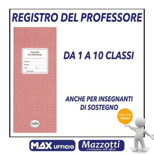 Register of Professor 2020 from 1 to 10 classes even for support