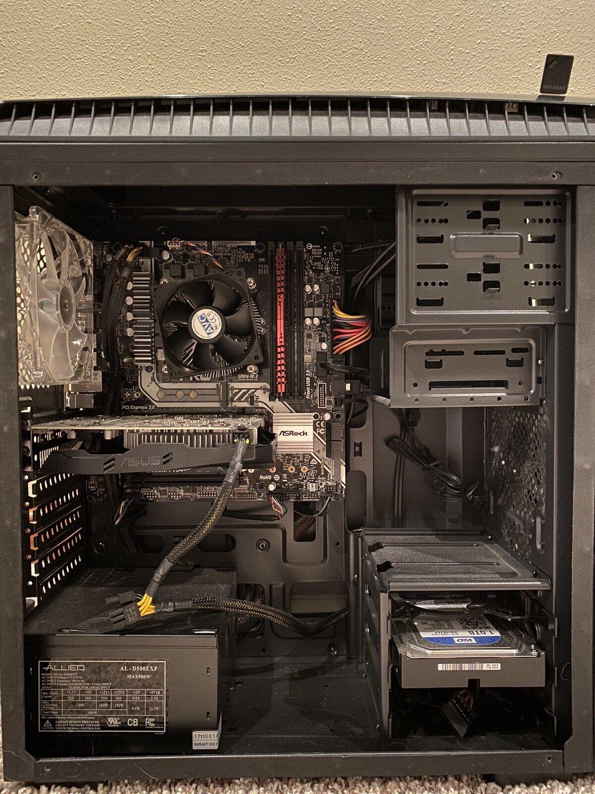 Gaming Pc Intel i7 7700 cpu 3.60GHz 8gb of ram1TB of memory GeForce GTX 1060 3GB