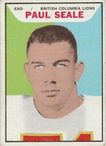 1965-TOPPS-CFL-PAUL-SEALE-B-C-LIONS-13-WENATCHEE-JR-COLLEGE