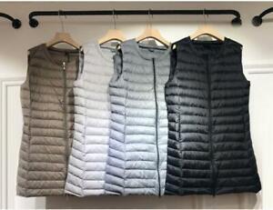 Women-Packable-Duck-down-Sleeveless-Vest-Jacket-Puffer-Coat-Ultralight-Waistcoat