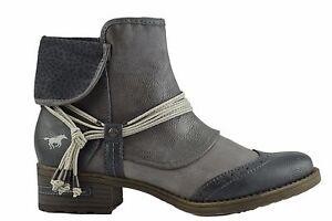 Leaher alla grigio Mustang da di New chiaro Stivali vegan donna cinturino caviglia Ladies con pIqYwqz