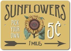 Sunflowers-Sign-Sunflower-Lover-Gift-Flower-Field-Aluminum-Sign-ENSA1003338