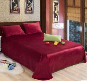 Red-Fleece-Velvet-Soft-King-Bed-Sheet-Cover-Coverlet-Bedding-2-4-2-6M