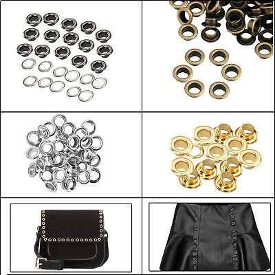 Matt Black Eyelets Grommets and Washers Banners Leather Craft Purses Canvas 6mm
