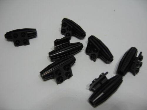 Accesorios 2 X Avión motor a reacción Negro 2x2 par parte no 4229 Lego
