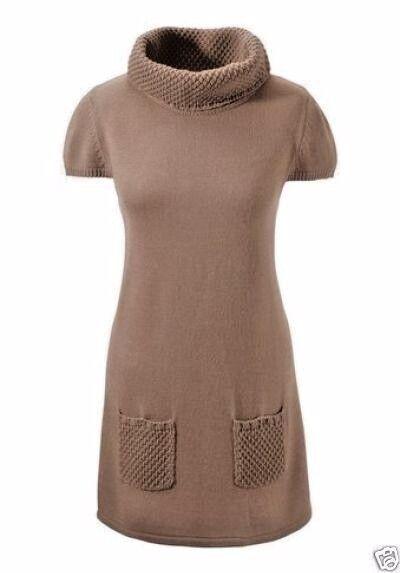 Damen Mini Strickkleid Longpullover CORLEY  Pulli Gr.46   NEU UVP: 44,99€ taupe