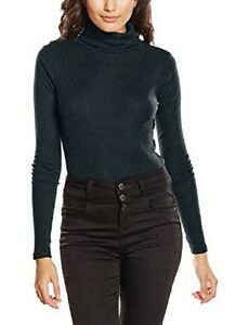 LADIES DARK GREEN FINE RIBBED ROLL NECK TOP IN SIZES 10 TO 18 BNWT ... 65fb4e54a