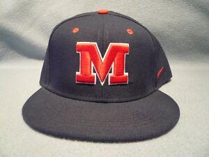 c02e9c0c Nike Ole Miss Rebels Authentic Vapor Fitted BRAND NEW hat cap dri ...