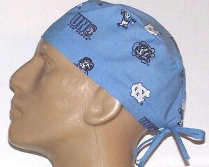UNC-UNIVERSITY-OF-NORTH-CAROLINA-SMALL-LOGOS-BLUE-SCRUB-HAT-FREE-SIZING