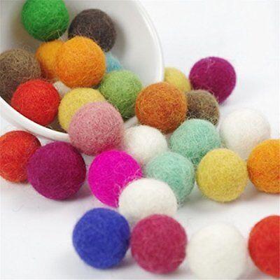 Multi color Felt Balls 2 cm home Crafts Christmas Decoration Garland making bead
