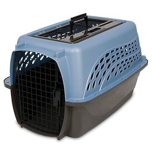Petmate Medium 2-Door Top Load Pet Kennel bluee