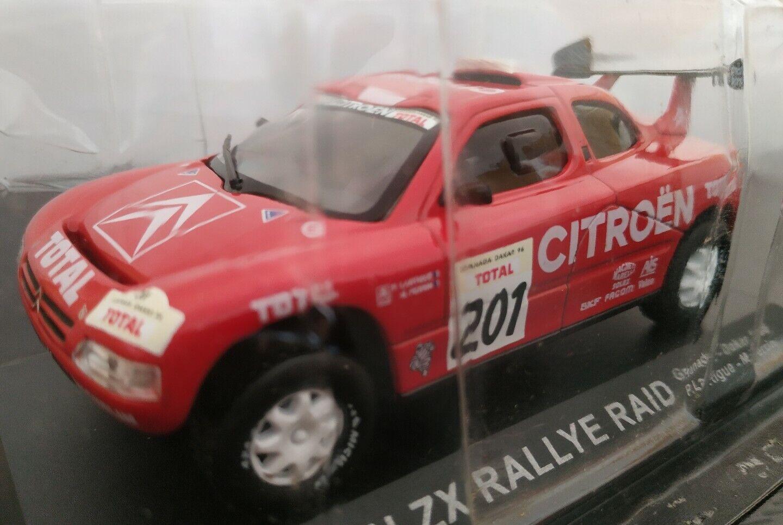 1 43 Citroën  zx rally raid paris dakar 1996 lartigue IXO Altaya Diecast scale  haute qualité