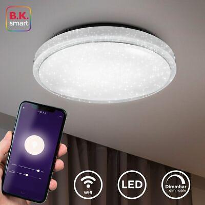 Smart DEL Plafonnier Lampe RGB App Alexa Google lumière du jour Lampe design variateur